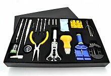 Uhrenwerkzeug Set ,Tatuer 40 Stk Professionell Werkzeuge für Uhr Reparatur Werkzeug Set Gehäuse Uhrmacher Geschenk für Mann mit Kasten