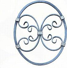 UHRIG NEU! Schmiedeeisen Ornament Oval Gitter