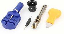 Uhrmacher Werkzeuge Lupe Fall-Remover-Öffner Frühling Pin Bar 5 in 1