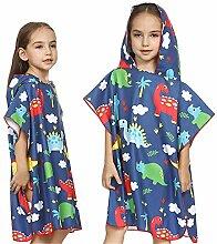Uiophjkl Kinder Schwimmen Poncho Handtuch