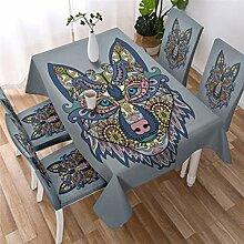 UIQB Tischdecke rechteckige Tischdecke in