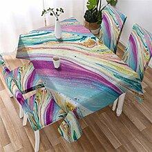 UIQB Tischdecke, rechteckige Tischdecke in öliger
