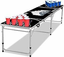 UISEBRT Beer Pong Tisch Set - inkl. 5 Bälle und