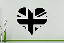 UK Herz - Flagge Zeichen Logo Vereinigtes