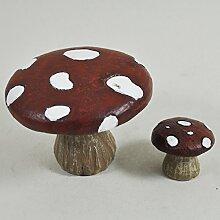 UK Mini Mushroom Fairy Garden Stuhl & Tisch Garten Miniatur Home Decor–Elfe Fee Pixie Hobbit Zauberhafte Geschenkidee–Höhe: 6cm/3cm