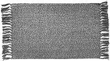 Ukeler Grauer gewebter Teppich mit Quasten,