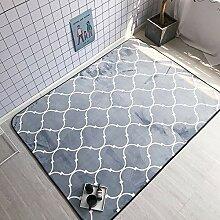 Ukeler Moderner grauer Teppich mit geometrischem