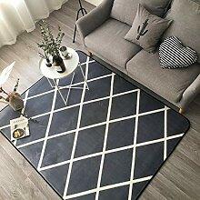 Ukeler Moderner grauer Teppich, rutschfest, für