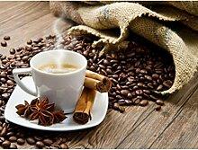 Ukerdo DIY Kaffee Bohnen Diamant Malerei Handgefertigt Eingefügt Mauer Bilder Cafe Dekoration