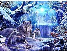 Ukerdo DIY Schnee Wolves Diamant Malerei Dekoration Mauer Kunst Bilder zum Leben Zimmer