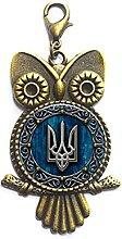 Ukraine Karabinerverschluss Schmuck Glas Cabochon