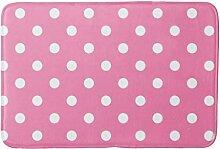 UKSILYHEART Badematte, 40,6 x 61 cm, gepunktet,