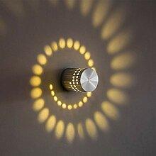 uksunvi 3W LED Wandleuchte Leuchte Wandlampe