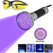 ULABLE 100 LEDs UV Schwarzlicht Taschenlampe mit