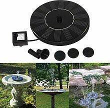 Ularma ☀ Solar Brunnen 7v/1.4w Mini Wasser Pumpe Sprinkler für Gartenteich Garten Aquarium Teich