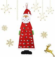 Ulikey Filz-Adventskalender Santa, Adventskalender