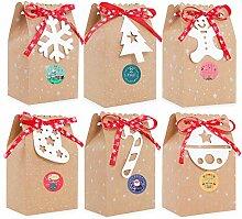 Ulikey Geschenktüten mit Griff Kraftpapier, 24