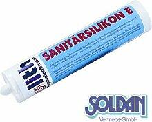 Ulith Sanitär-Silikon Kartusche, grau, 300ml