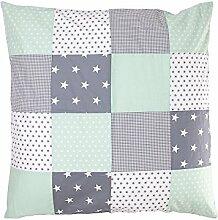 ULLENBOOM ® Baby Bettdeckenbezug 80x80 Mint Grau