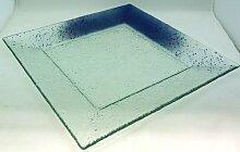 Ullmannglass Platte/Teller aus Glas - handarbeit