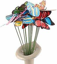 ULTNICE 10 Stück 3D Schmetterlinge Deko Gartendeko Gartenstecker