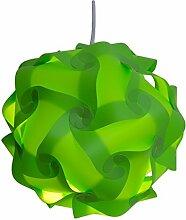 ULTNICE Lampe Puzzle Lampenschirm Schatten Jigsaw IQ Light DIY Anhänger Lampe Größe L (Grün)