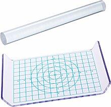 ULTNICE Nudelholz für Ton, Acryl-Tonroller und