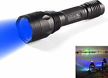 UltraFire Blaues Licht Taschenlampe Taktische