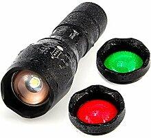 UltraFire LED Taktische Taschenlampe A100 mit Rot