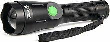 UltraFire Taschenlampe Wiederaufladbar Zoombar