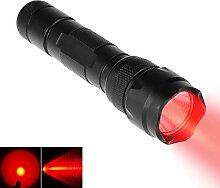 Ultrafire WF-502-Rot Premium 3 Watt Rotlicht Taschenlampe