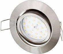 Ultraflacher LED 5W Einbaustrahler schwenkbar 230V
