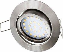 Ultraflacher LED Spot Einbaustrahler Edelstahl