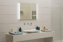 Ultrahell LED-Beleuchtung Lichtspiegel Badezimmerspiegel GS100N Wandspiegel Tageslichtweiß IP44 (80 x 60 cm)