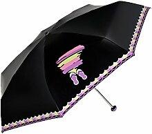 Ultraleicht Mini-Regenschirm Sonnenschirm Sonnenschutz Anti UV-Strahlen Klar Regenschirm,10