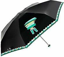Ultraleicht Mini-Regenschirm Sonnenschirm Sonnenschutz Anti UV-Strahlen Klar Regenschirm,07