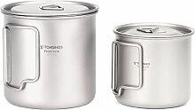 Ultralight Titanium Cup Outdoor Portable 2PCS Cup