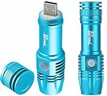 Ultraviolett Taschenlampe Kosmetik Maske Sanitär Serviette Test Fluoreszenz Erkennung Stift Lila Anti-Counterfeit Lichter Taschenlampen 12cm, blau 1 PC