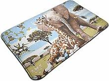 Ultraweicher, moderner Teppich mit Giraffen- und