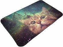 Ultraweicher, moderner Teppich mit Katzenmotiv,