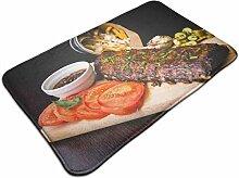Ultraweicher, moderner Teppich mit Steak-Muster,