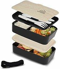 Umami Bento Original Schwarz -Lunchbox Mit 2