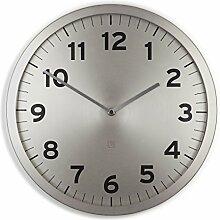Umbra 1005476-410 Anytime Wall Clock, Wanduhr aus Metall, Nickel