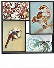 Umbra 311113-040 Matrix Mehrfachbilderrahmen Klein, Bilderrahmen, Bilderhalter, Bilderträger, Fotorahmen, Fotohalter, metall, schwarz