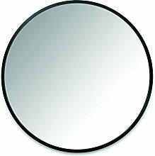 Umbra Hub Wandspiegel – Runder Spiegel für Diele, Badezimmer, Wohnzimmer und Mehr, Schwarz, 94cm Durchmesser