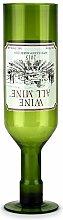 Umgedrehtes Weinglas in Form Einer Weinflasche