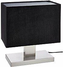 UMI Table Lamp Fabric Shade with Rectangular Metal