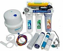 Umkehrosmose Wasserfilter 6 stufen mit Pumpe und