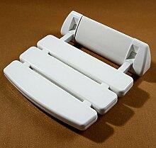 Umlaufende Bad Sitz Klapp Hocker Älter Safe Sanitär Dusche Stühle Wand Panel Square ( Farbe : Weiß )