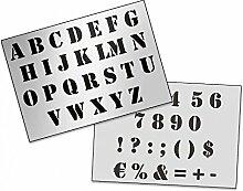 UMR-Design AS-126 font Airbrushschablone Step by Step Grösse XL